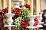 Roses and Candles Decoration Fotografie-Druck von  stefano pellicciari