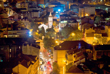 City of Sibenik Aerial Night View Poster by  xbrchx