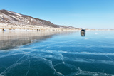 Baikal Lake. Winter Travel on Ice by Car Photographic Print by  katvic