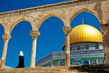 Muslim Woman at the Dome of the Rock Photographic Print by  EvanTravels