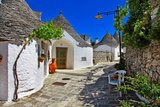 Unique Trulli Houses with Conical Roofs in Alberobello, Italy, P Photographic Print by  Freesurf