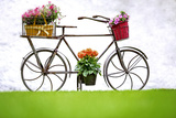 Iron Hand Made Bicycle and Flowers Lámina fotográfica por  stefano pellicciari