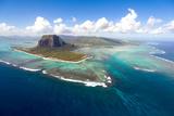 Aerial Mauritius Fotografisk tryk af Sapsiwai