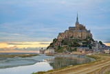 Mont Saint Michel at Sunset , France Photographic Print by  neirfy