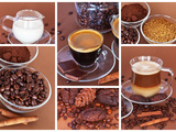 Espresso and Latte. Good Morning with Coffee Aroma Photographic Print by  katvic