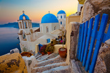Santorini Sunset Pathway View Photographic Print by  EvanTravels