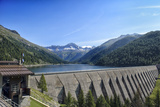 Landscape Mountains Lake Dam in Italy Trentino Dolomites Alps Photographic Print by  stefano pellicciari