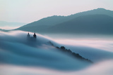 Calvary over Clouds in Banska Stiavnica, Slovakia Photographic Print by  TTstudio