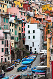 Italy. Riomaggiore. Cinque Terre National Park Photographic Print by  katvic