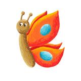 Cute Orange Butterfly Julisteet tekijänä  andreapetrlik