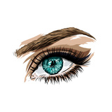 Beautiful Female Eye of Green Color. Prints by  MargaritaSh