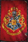 Harry Potter Hogwarts Flag Print