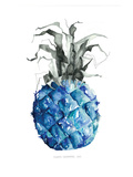 Pineapple_blue Poster by Claudia Libenberg