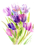 Purple Tulips Posters by Suren Nersisyan