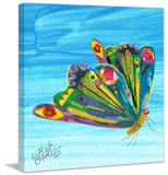 Rainbow Butterly Print on Canvas Stretched Canvas Print by Eric Carle