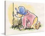 Peekaboo Paddington Bear Print on Canvas Stretched Canvas Print by Peggy Fortnum