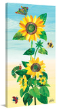 Sunflower and Bugs 2 Print on Canvas Stretched Canvas Print by Eric Carle