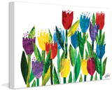 Tulips Print on Canvas Gallery Wrapped Canvas by Eric Carle