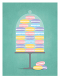 Sweets_Macaroons Print by Jilly Jack Designs