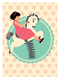Vintage_PlaygroundHorse Poster by Jilly Jack Designs