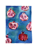 Pattern_pomegranate Art Print by Claudia Libenberg