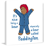 It's Nice Being a Bear 3 Paddington Bear Print on Canvas Gallery Wrapped Canvas by Peggy Fortnum
