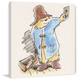 Postcard Paddington Bear Print on Canvas Gallery Wrapped Canvas by Peggy Fortnum