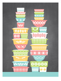KitchenBar_VintageBowls1 Poster by Jilly Jack Designs