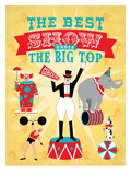 Circus 3 Poster by Jilly Jack Designs