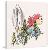 Gardening Paddington Bear Print on Canvas Gallery Wrapped Canvas by Peggy Fortnum
