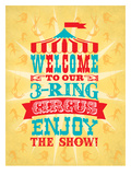 Circus 1 Posters by Jilly Jack Designs