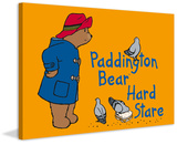 Hard Stare Paddington Bear Print on Canvas Gallery Wrapped Canvas by Peggy Fortnum