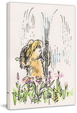 Fun in the Sprinkler Paddington Bear Print on Canvas Gallery Wrapped Canvas by Peggy Fortnum