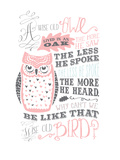 Owl-4 Posters af Jilly Jack Designs