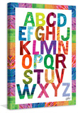Alphabet Letters Print on Canvas Gallery Wrapped Canvas by Eric Carle