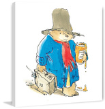 Sticky Bear Paddington Bear Print on Canvas Gallery Wrapped Canvas by Peggy Fortnum