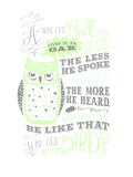 Owl-5 Print by Jilly Jack Designs