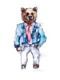 Mac the Bear Print by Claudia Libenberg