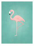 PalmSprints_Flamingo Plakat af Jilly Jack Designs