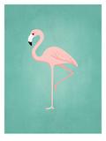 PalmSprints_Flamingo Print by Jilly Jack Designs