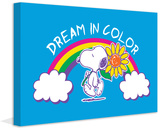 Dream Color Peanuts Print on Canvas Stretched Canvas Print by Charles M. Schulz