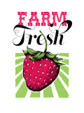 Fruit_strawberry Posters by Jilly Jack Designs