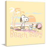 Beach Baby Peanuts Print on Canvas Stretched Canvas Print by Charles M. Schulz