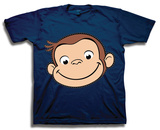 Toddler: Curious George- Big Face Camiseta