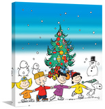 Peanuts Christmas Peanuts Print on Canvas Stretched Canvas Print by Charles M. Schulz