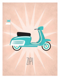 Vintage_Scooter1 Art by Jilly Jack Designs