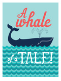 Nautical_WhaleTale Posters by Jilly Jack Designs