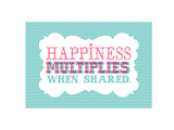 Typography_Happiness Print by Jilly Jack Designs