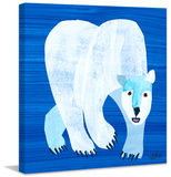 Polar Bear Print on Canvas Stretched Canvas Print by Eric Carle