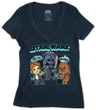 Juniors: Star Wars-Sound Effects V-Neck T-shirts